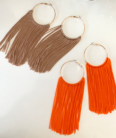 Feelin' Fringy | Tassel Hoop Earrings