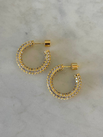 Jewel on Jewels | Hoop Earrings