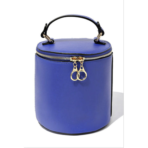 Blue Bucket Handbag