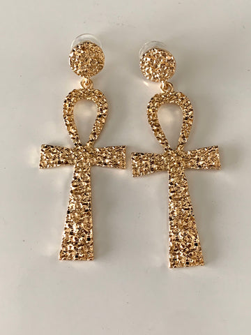 Ankh Drop Earrings