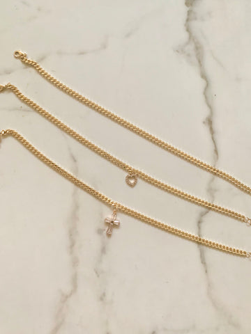 Cuban Link Chain| Anklet or Bracelet
