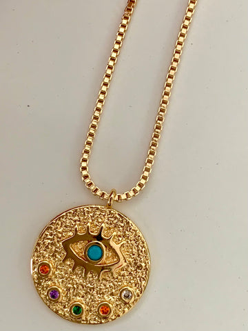 Gem-in-Eye | Evil Eye Necklace