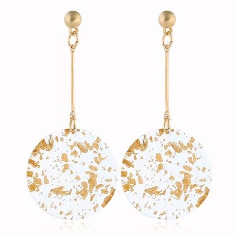 Gold Flake Acrylic | Drop Earrings