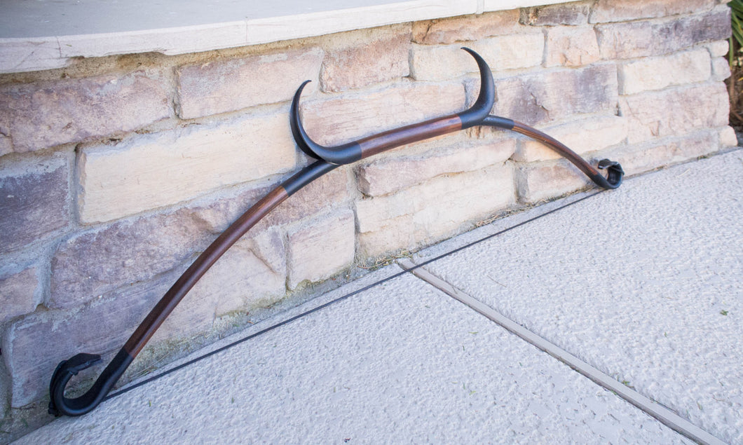 Skyrim Elder Scrolls Online Inspired Horned Recurve Bow Functional Replica