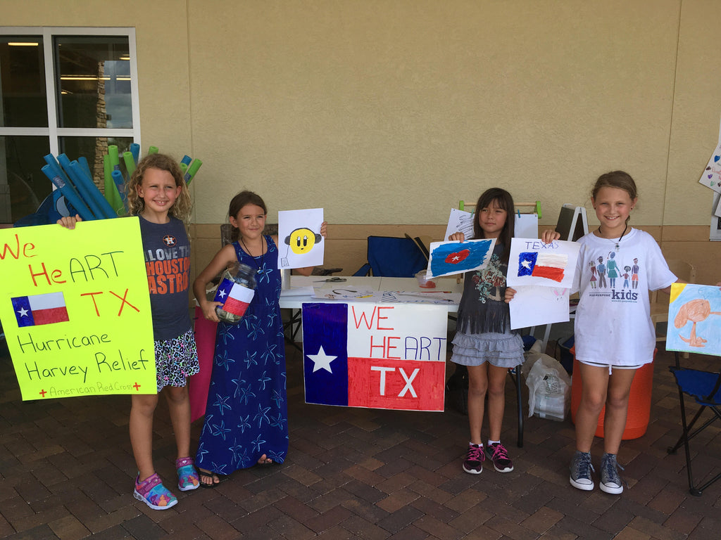 For-Purpose Kids raising money for Hurricane Harvey Relief