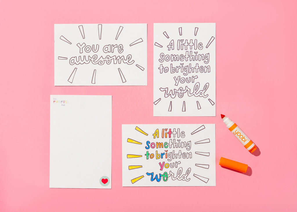 Kindness Cards with Washable Markers