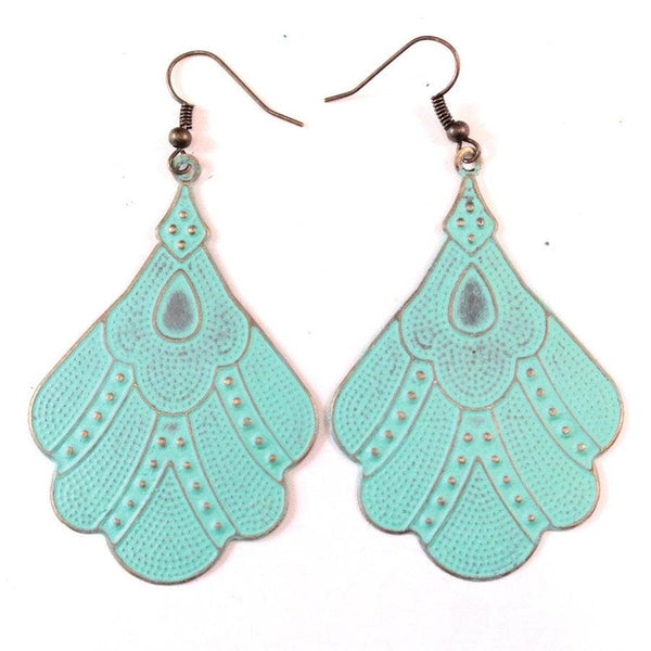 Gleeful Peacock - Flapper Girl Earrings
