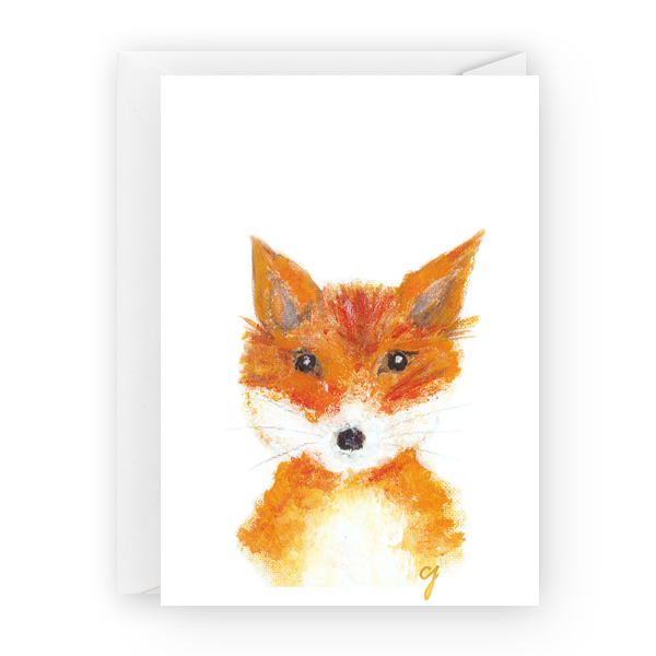 "claire jordan designs - 5"" x 7"" Fox Greeting Card"