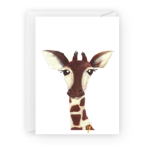 "claire jordan designs - 5"" x 7"" Giraffe Greeting Card"