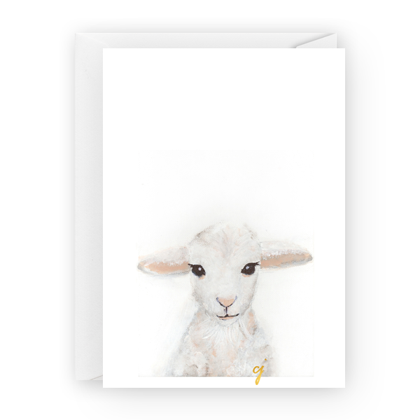 "claire jordan designs - 5"" x 7"" Lamb easter Greeting Card"