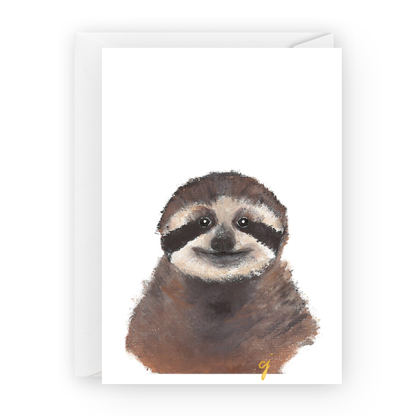 "claire jordan designs - 5"" x 7"" Sloth Greeting Card"