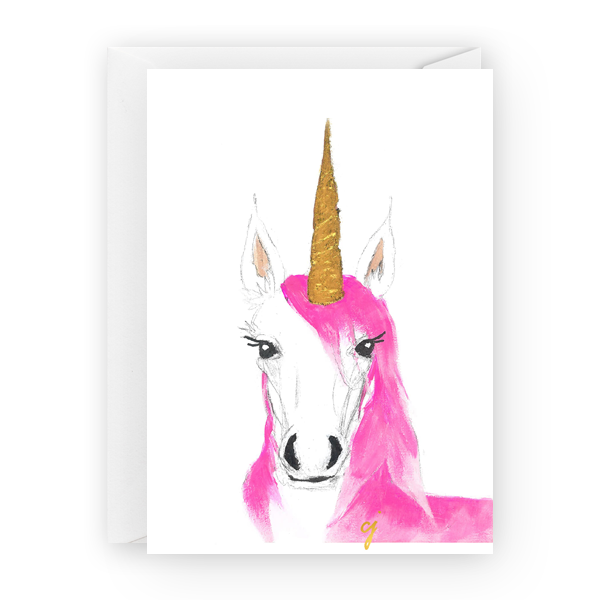 "claire jordan designs - 5"" x 7"" Unicorn Greeting Card"