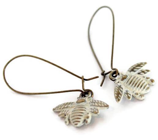 Gleeful Peacock - Busy Bee Charm Earrings