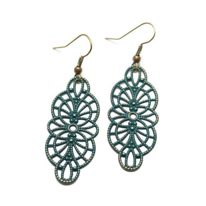 Gleeful Peacock - Moxie Earrings