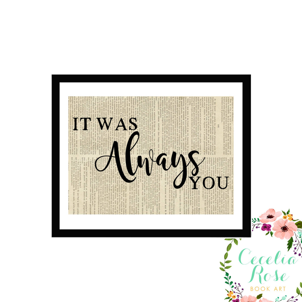 Cecelia Rose Book Art - It Was Always You