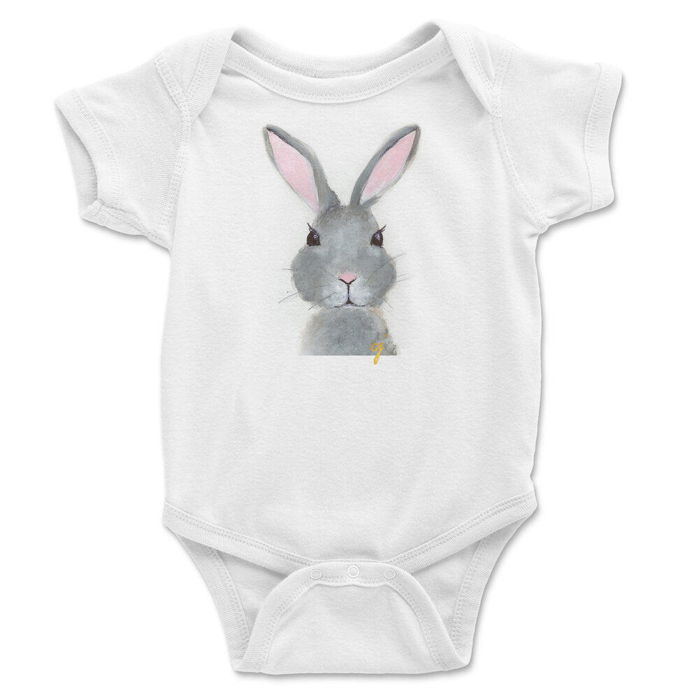 claire jordan designs - Bunny animal baby clothing onesie (unisex)
