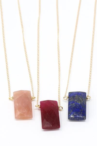 Crafts & Love - Gem Necklaces Sterling Silver Chain