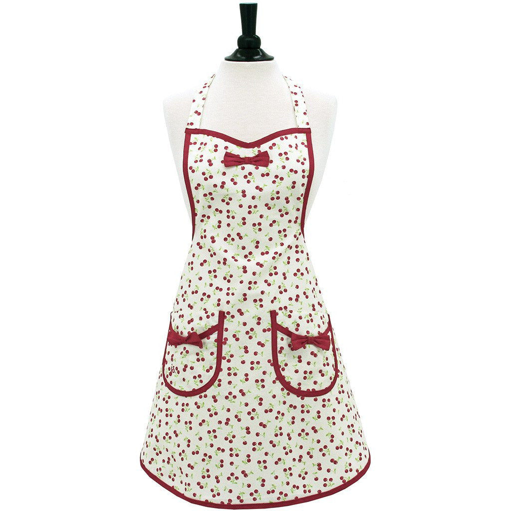 Retro Cherries Apron ~ Adult