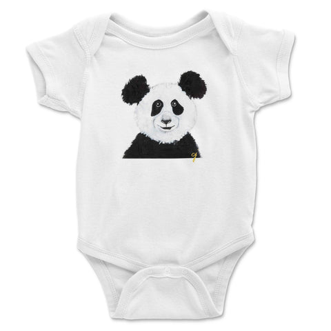 claire jordan designs - panda animal baby clothing onesie (unisex)