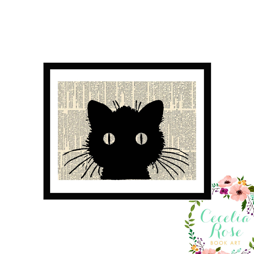 Cecelia Rose Book Art - Black Cat