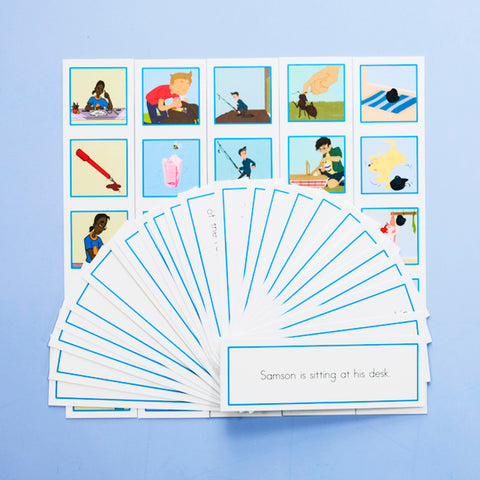 BLUE PICTURE STRIP SETS