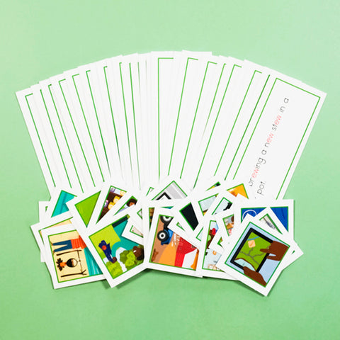 GREEN PICTURE CARDS SETS