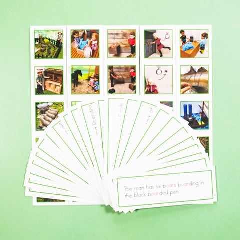 GREEN PICTURE STRIP SETS