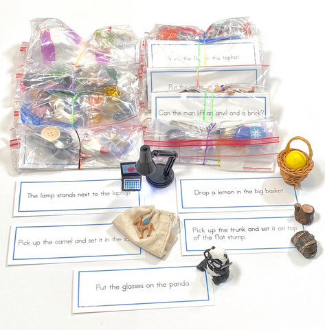 BLUE SENTENCES with OBJECTS