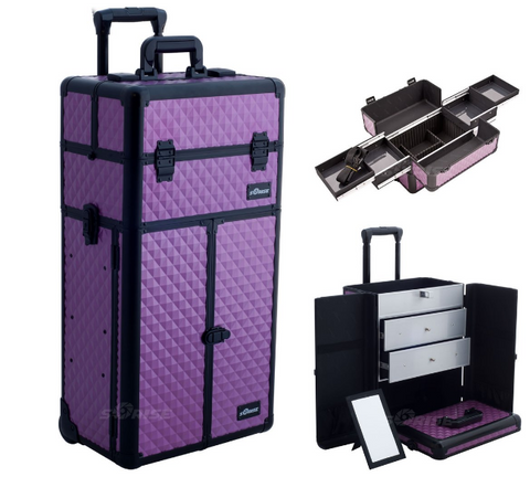diamond rolling makeup case