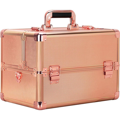 Fiume Makeup Train Case In Rose Gold By Ver Beauty - VK003