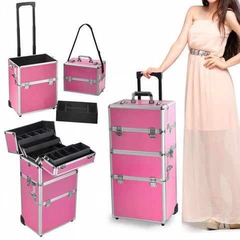 YAHEETECH 2 WHEEL 3 IN 1 MAKE UP CASE