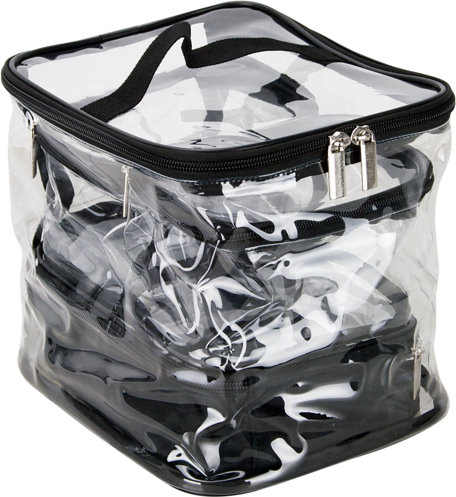 Calimala 4 Piece Clear Makeup Bag by Casemetic - eBest Makeup Cases
