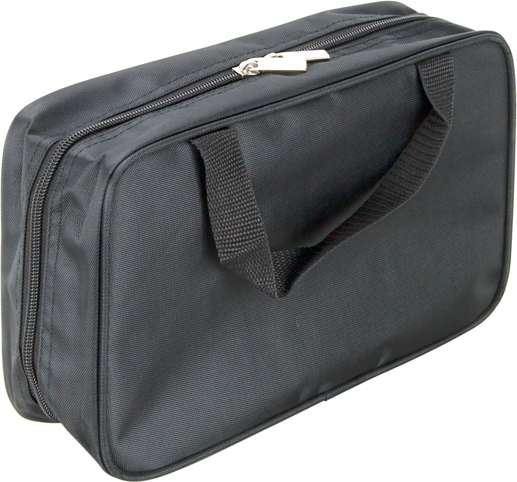 Nerli Black-Nylon Makeup Bag by Casemetic - eBest Makeup Cases