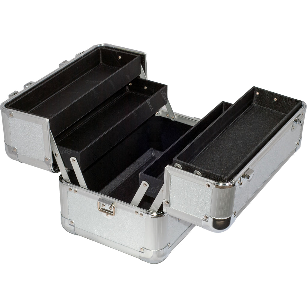 San Barnaba Train Makeup Case w/ Accordion Trays by Sunrise-C0002 - eBest Makeup Cases