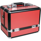 SUNRISE Professional Artist Train Makeup Cases C3002 Organizer, Two 3 Tier Trays, Locking with Shoulder Strap
