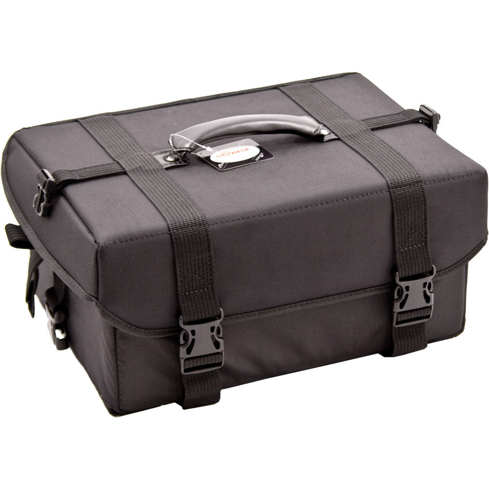 Dei Mori Black Canvas Train Makeup Case by Sunrise - eBest Makeup Cases