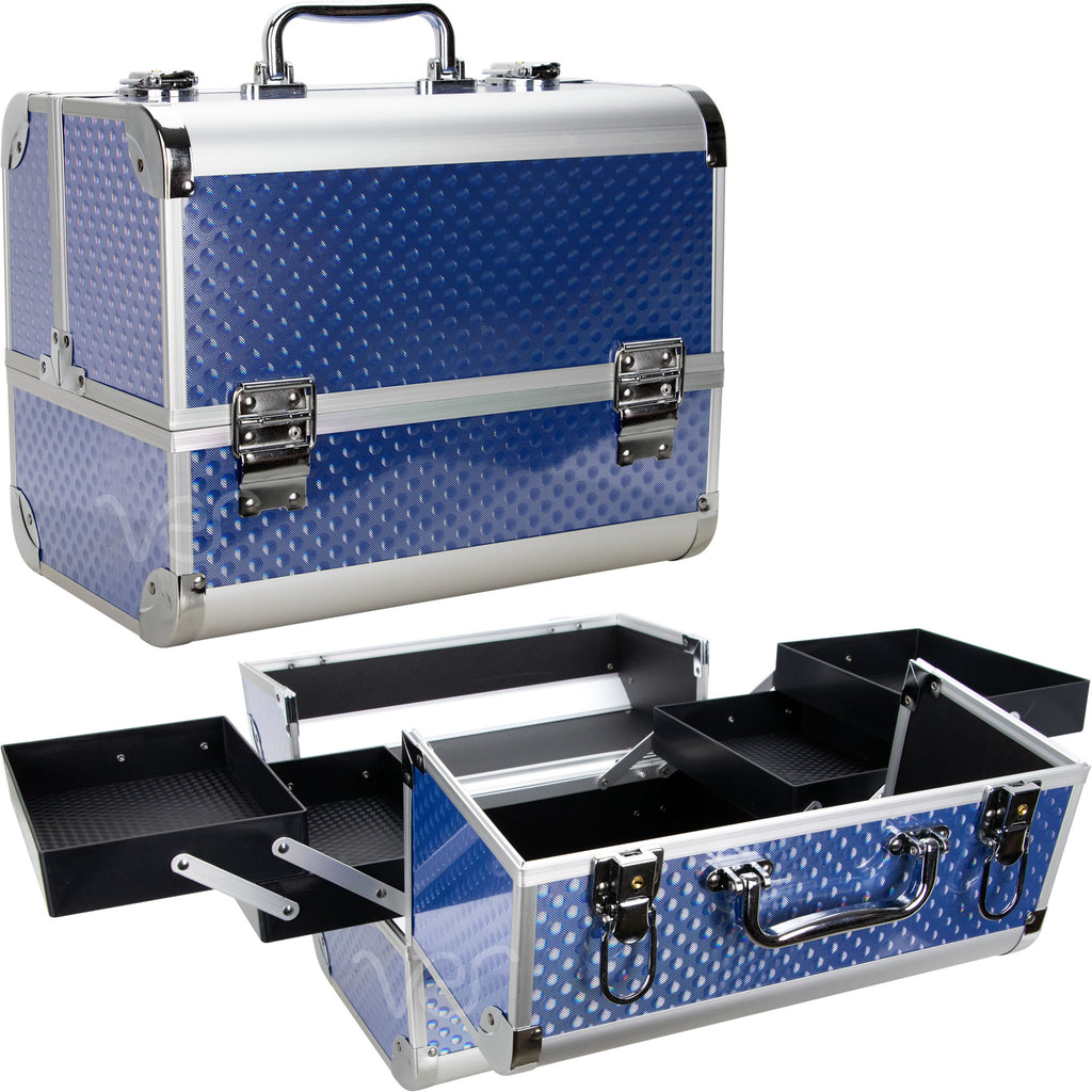 Trinita Makeup Case Organizer with 4 Extendable Trays by Ver Beauty