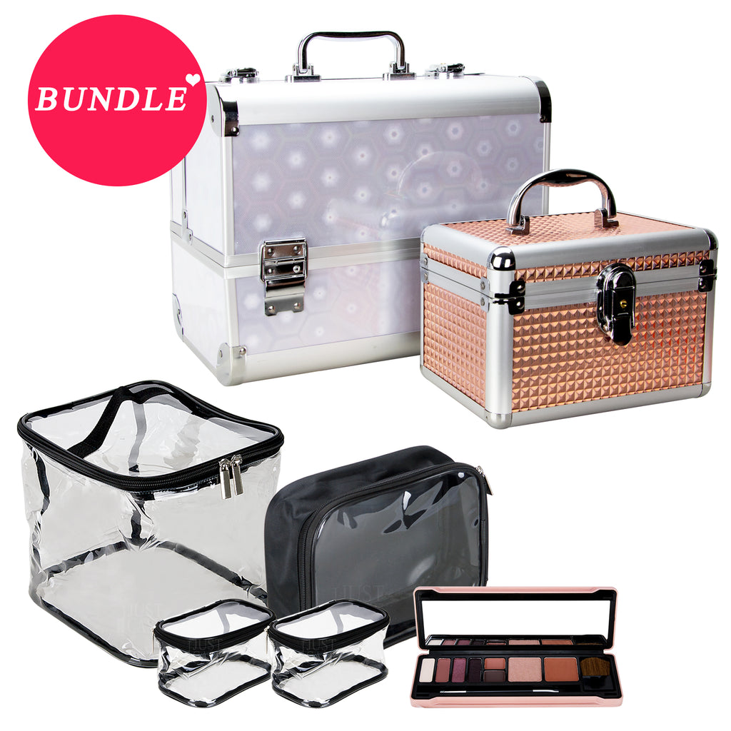MDG SCP003- Makeup Case Organizer with Makeup Bags and Makeup Palette by VER BEAUTY