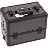 SUNRISE Professional Makeup Cases E3304 Aluminum, Two 3 Tier Trays with Adjustable Dividers, Locking with Shoulder Strap