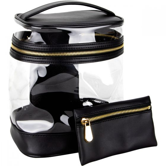 Teletta Vintage Clear Bag by Ver Beauty-VB001 - eBest Makeup Cases