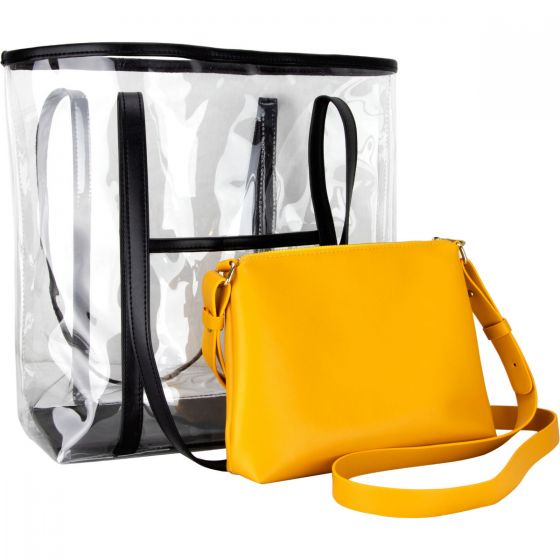 Tornabuoni 2-in-1 Clear Shoulder Tote Bag-VB003 - eBest Makeup Cases