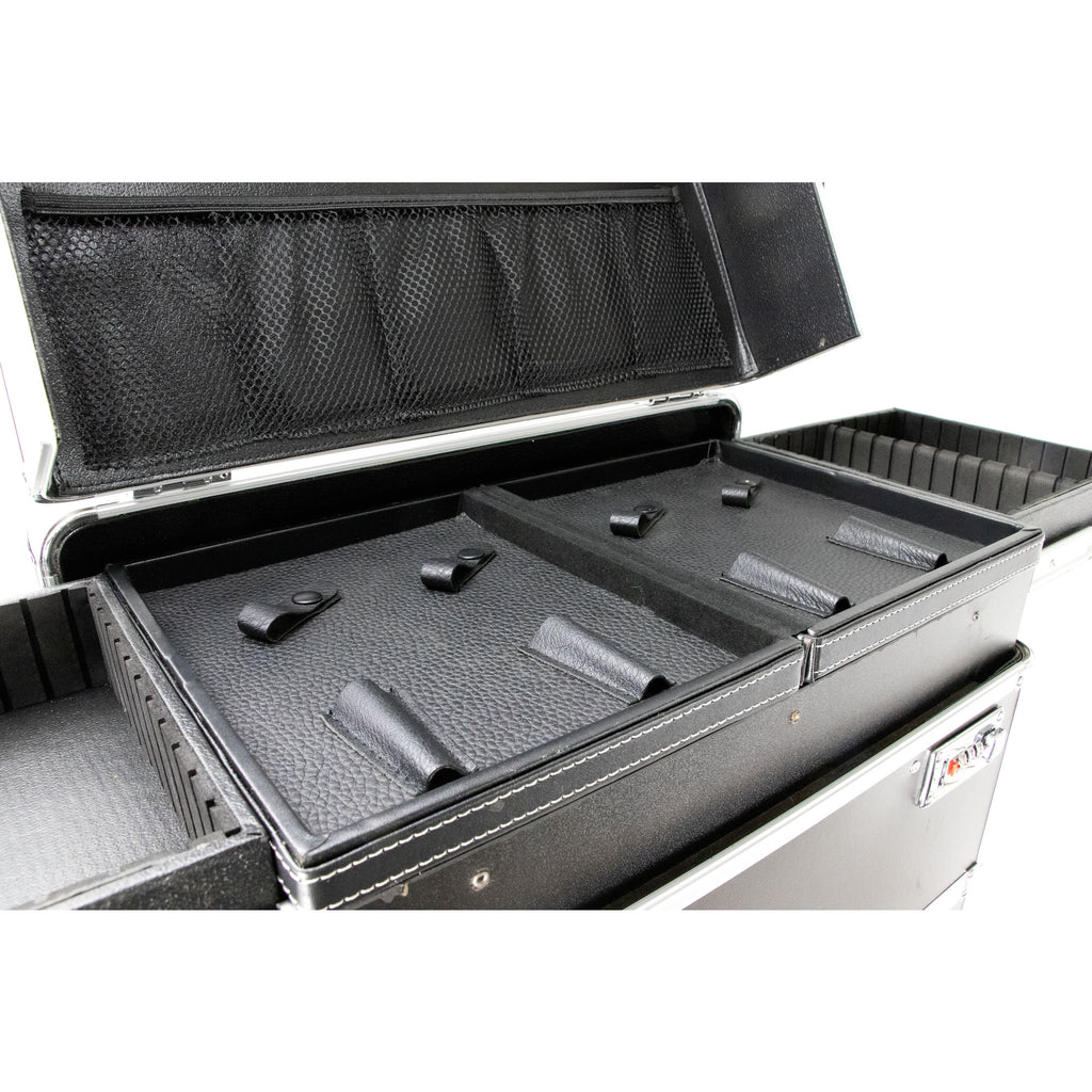 Via Margutta Black Barber Rolling Case with Compartments by Ver Beauty-VBR005