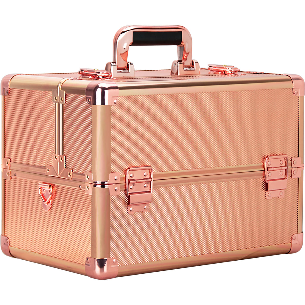 Fiume Makeup Train Case in Rose Gold by Ver Beauty-VK003 - eBest Makeup Cases