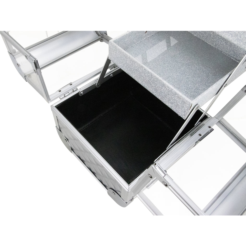 Dell'Unita Armored Acrylic Case with 2 Trays and Mirror by Ver Beauty-VK005