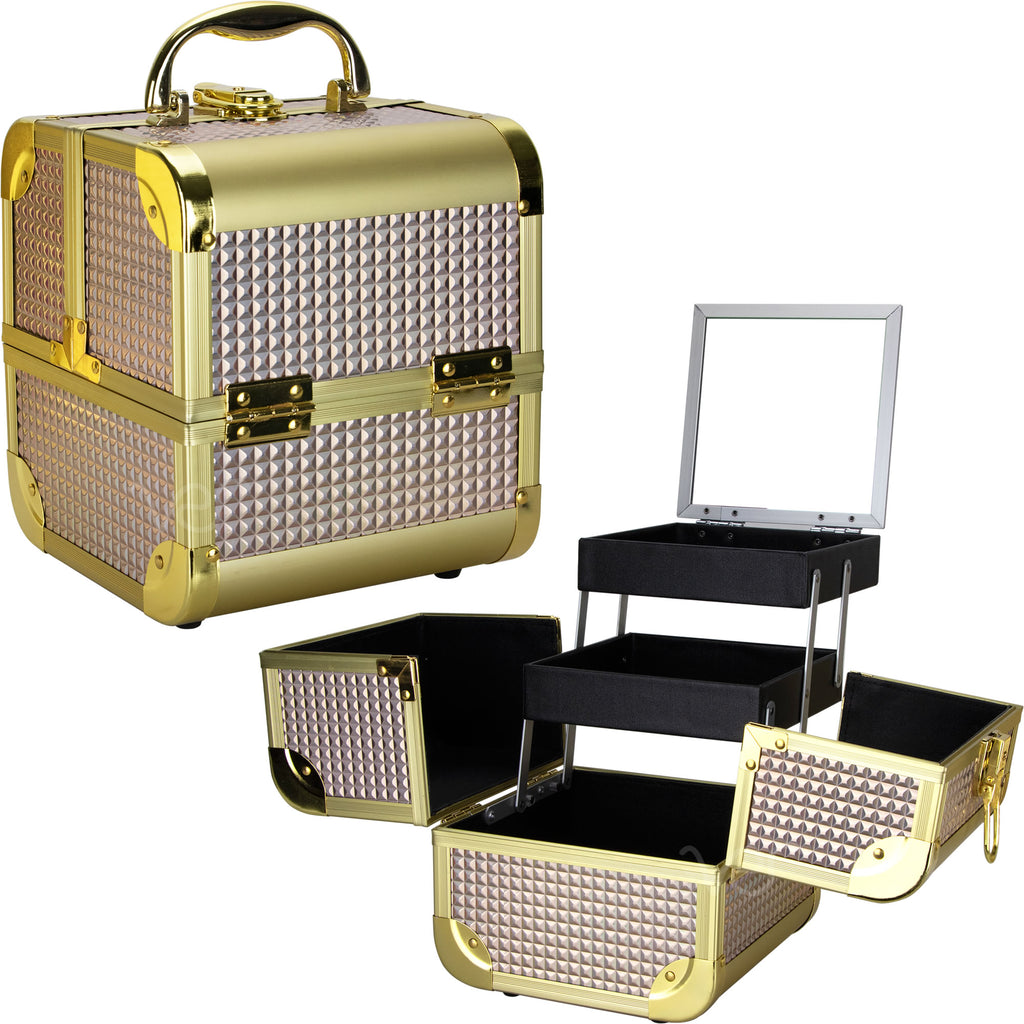 De Ct. Vecchia Makeup Case with 2 Extendable Trays by Ver Beauty - eBest Makeup Cases
