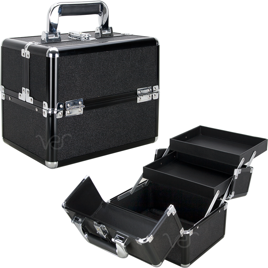 Piazzale Roma Train Makeup Case with Two Trays by Ver Beauty-VK002 - eBest Makeup Cases