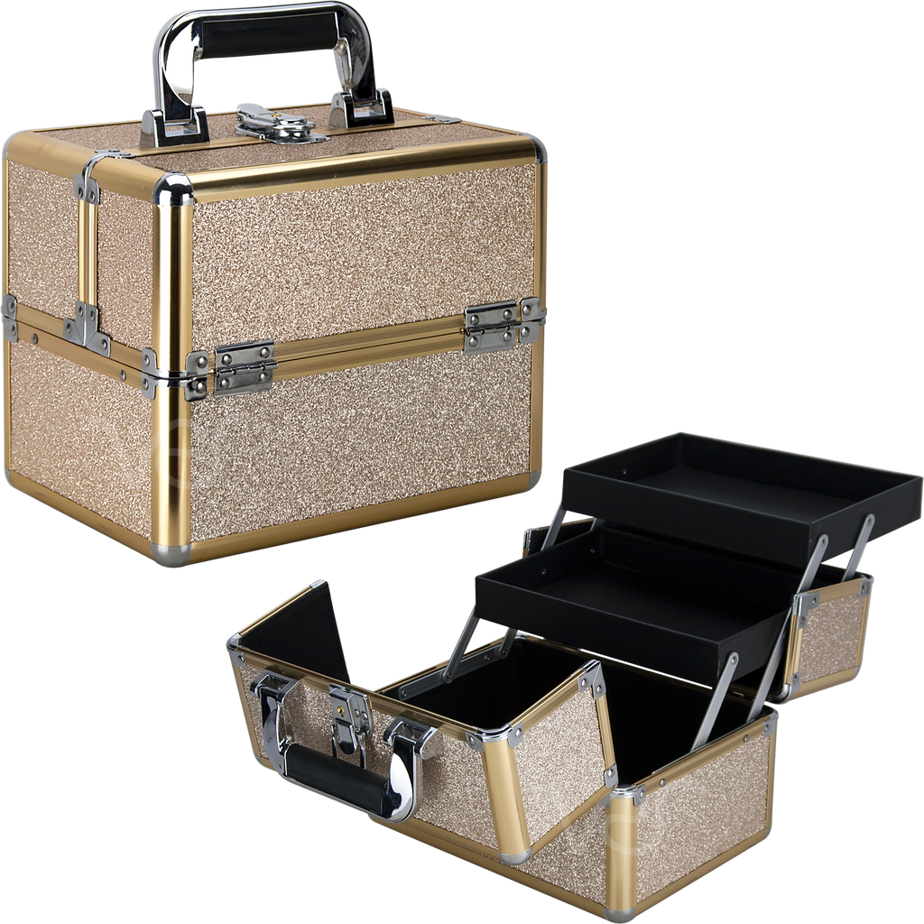 Piazzale Roma Train Makeup Case with Two Trays by Ver Beauty-VK0112 - eBest Makeup Cases
