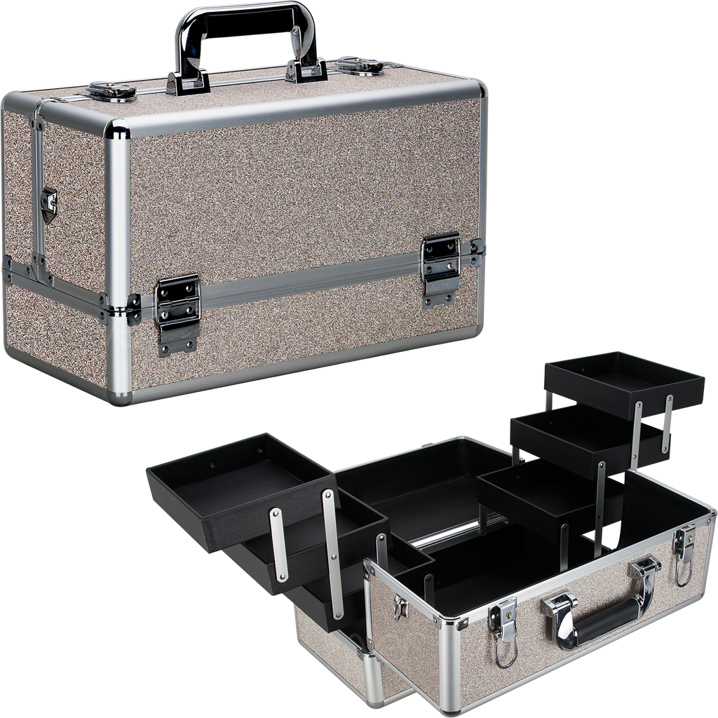Michiel Train Makeup Case with Six Extendable Trays - VP001 - eBest Makeup Cases