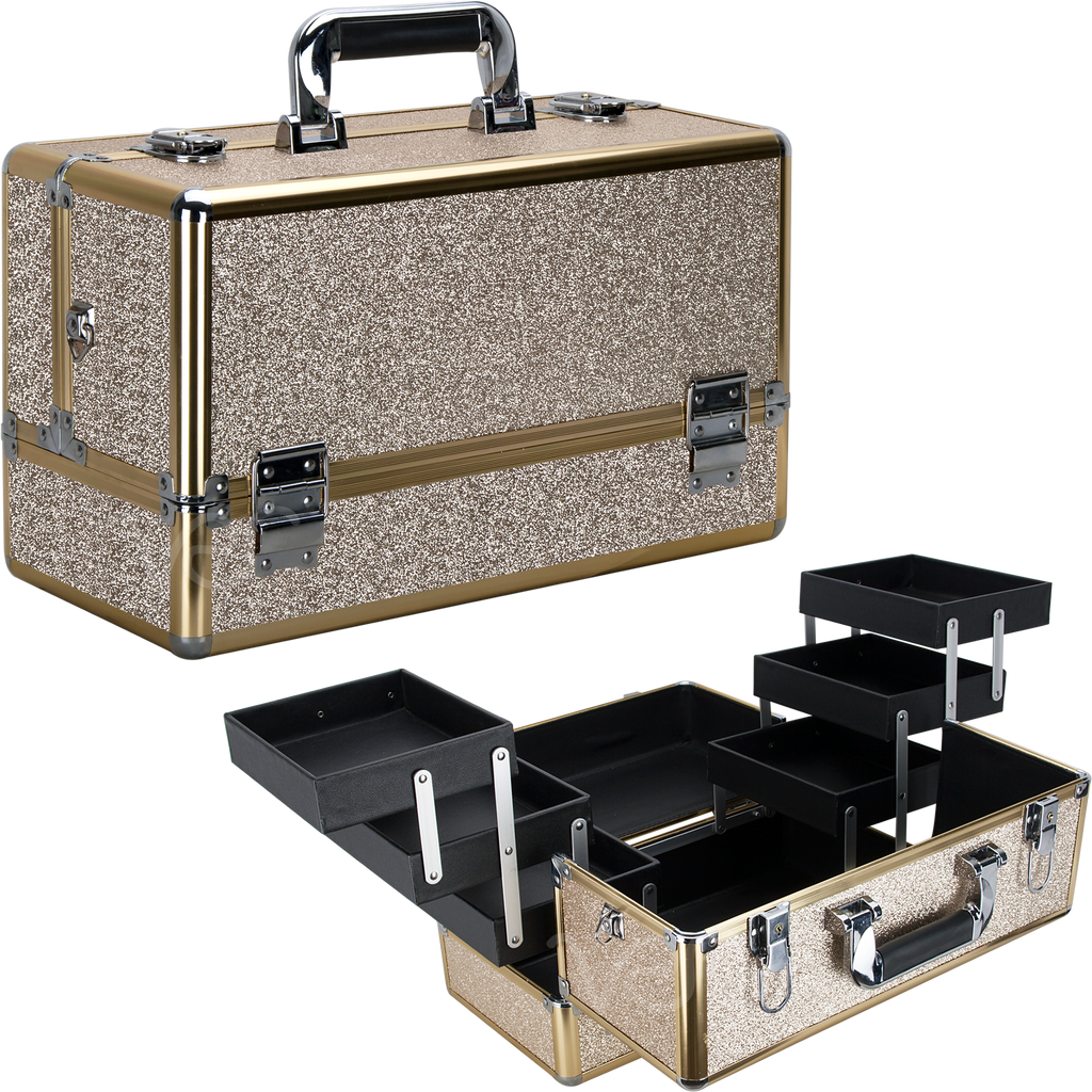 Michiel Train Makeup Case with Six Extendable Trays - eBest Makeup Cases