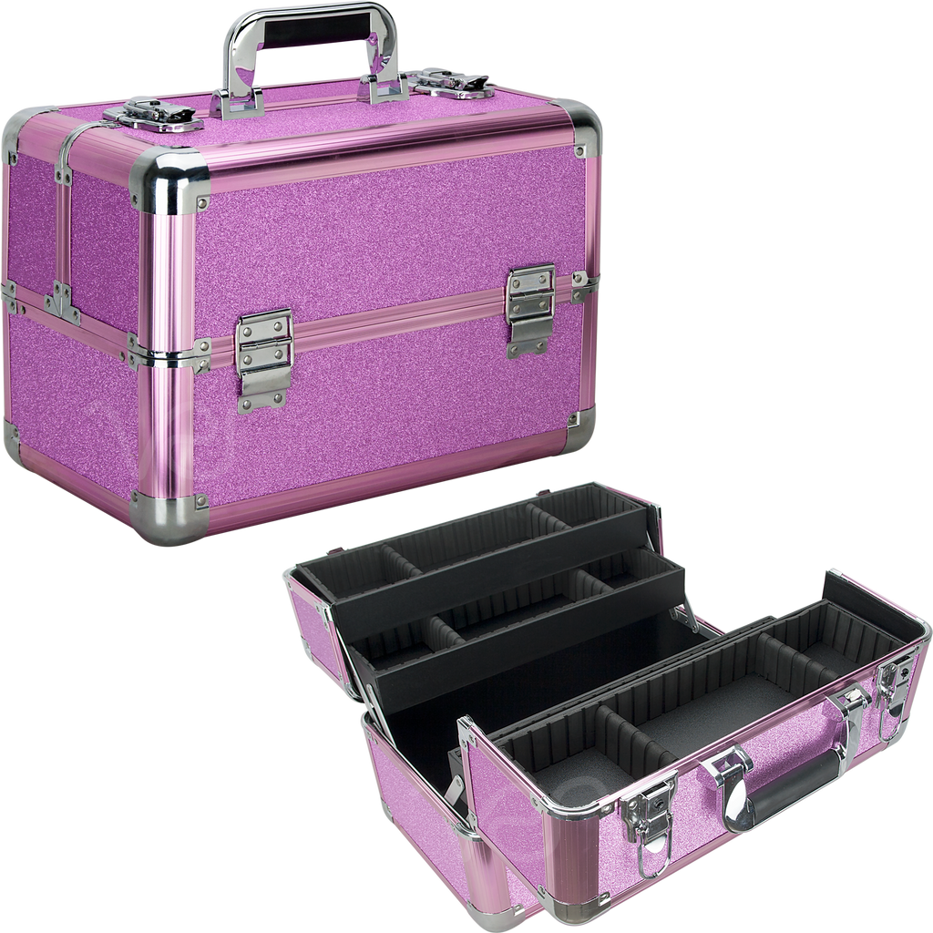 Nerli Train Makeup Case in Glitters by Ver Beauty-VK3403 - eBest Makeup Cases